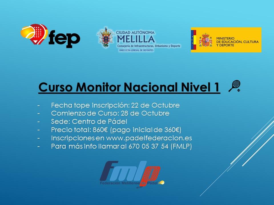 Curso Monitor Nacional Nivel 1